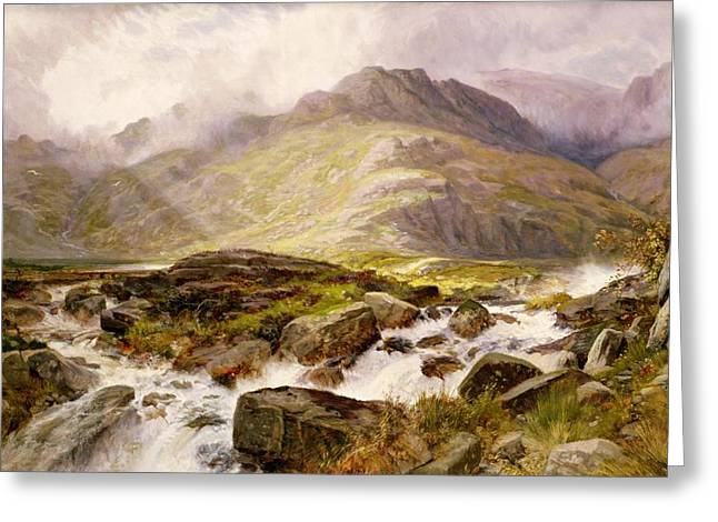 Whitewater Greeting Cards - The Glyder Fawr  Greeting Card by Edwin Pettitt