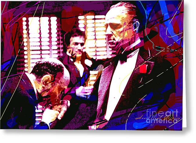 The Godfather Kiss Greeting Card by David Lloyd Glover
