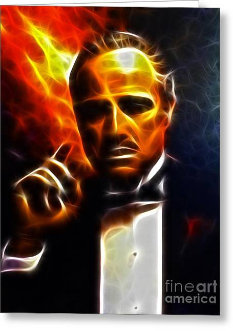 Amazing Greeting Cards - The Godfather Greeting Card by Pamela Johnson