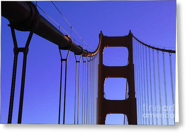 San Francisco Famous Photographers Greeting Cards - The Golden Gate Bridge Greeting Card by Bob Christopher