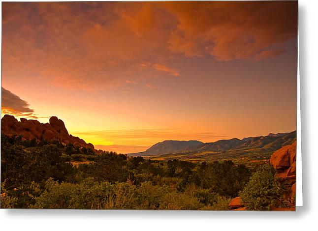 Colorado Scenic Greeting Cards - The Golden Hour Greeting Card by Tim Reaves