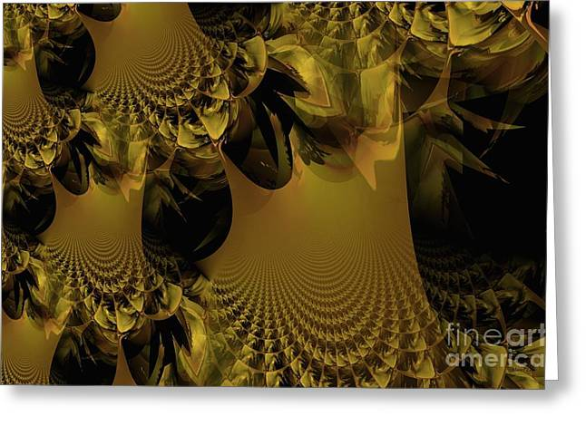 The Golden Mascarade Greeting Card by Maria Urso