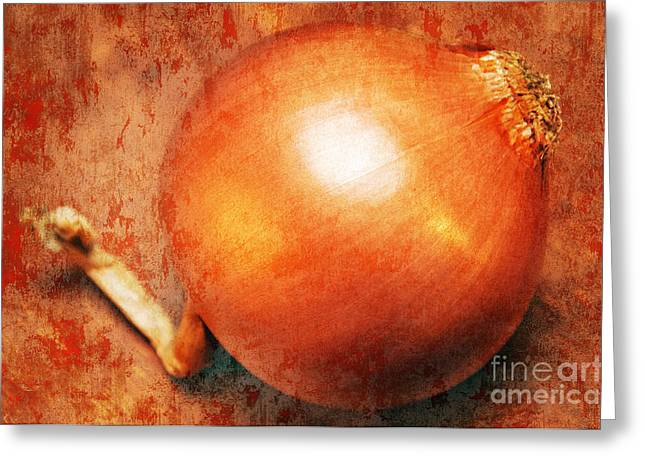 Yield Greeting Cards - The Golden Onion Greeting Card by Andee Design