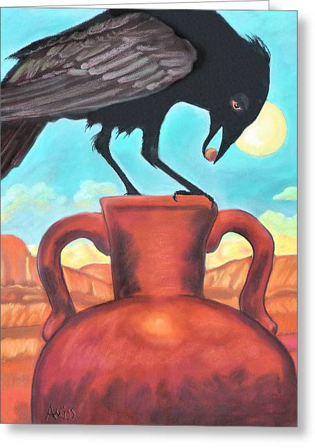 Raven Pastels Greeting Cards - The Golden Pearl Greeting Card by Jan Amiss