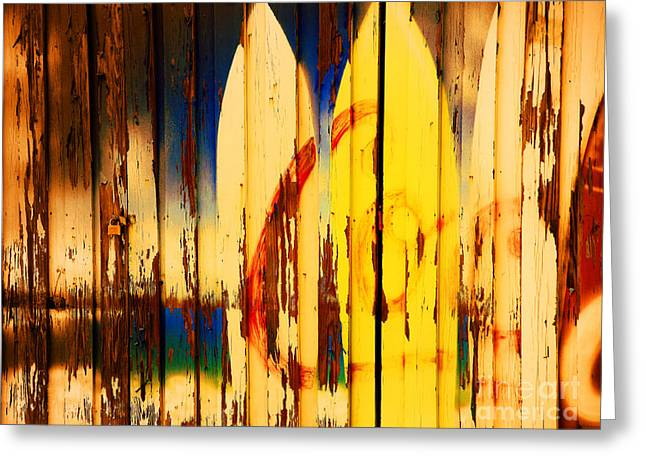 Surfing Boards Greeting Cards - The Good Old Days of Surfing Greeting Card by Susanne Van Hulst