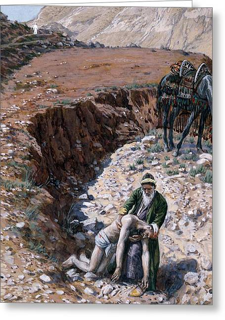 Middle Of Nowhere Greeting Cards - The Good Samaritan Greeting Card by Tissot