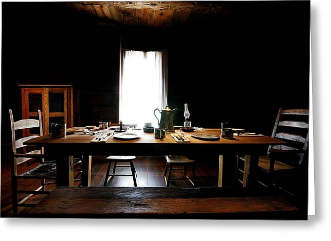 Prescott Greeting Cards - The Governers table Greeting Card by Scott Lehman