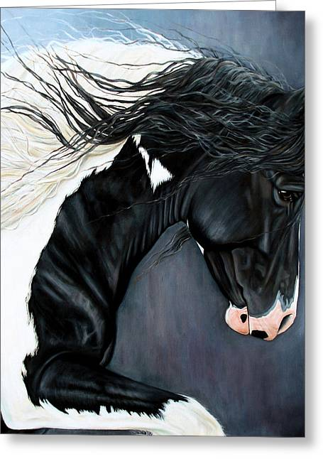 Gypsy Cob Greeting Cards - The Grafter Greeting Card by Caroline Collinson