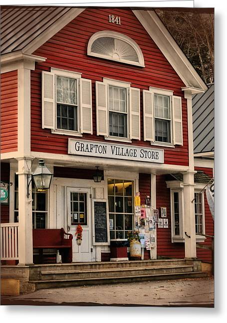 New England Village Scene Greeting Cards - The Grafton Vermont Village Store Greeting Card by Thomas Schoeller