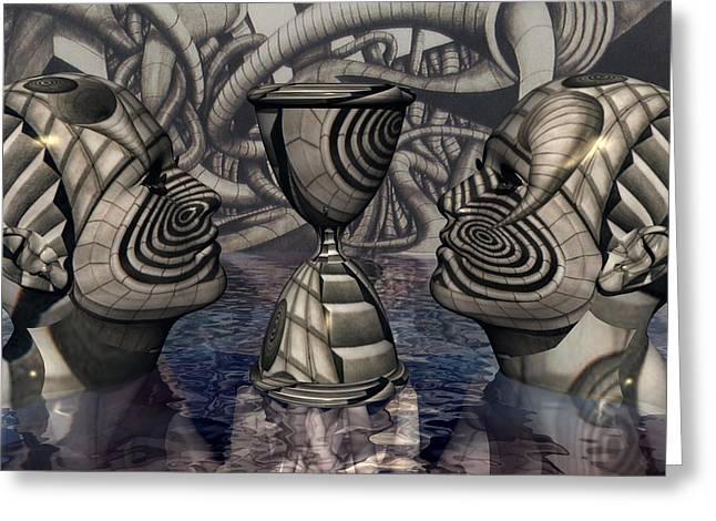 Magical Realism Greeting Cards - The Grail of Two Minds Greeting Card by Jon D Gemma
