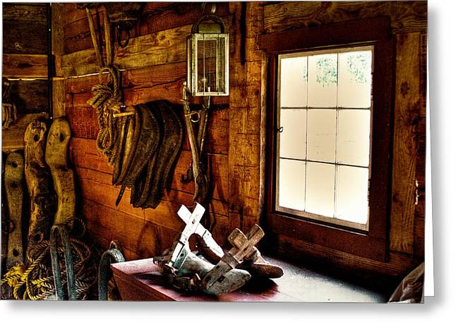 The Granary At Fort Nisqually Greeting Card by David Patterson