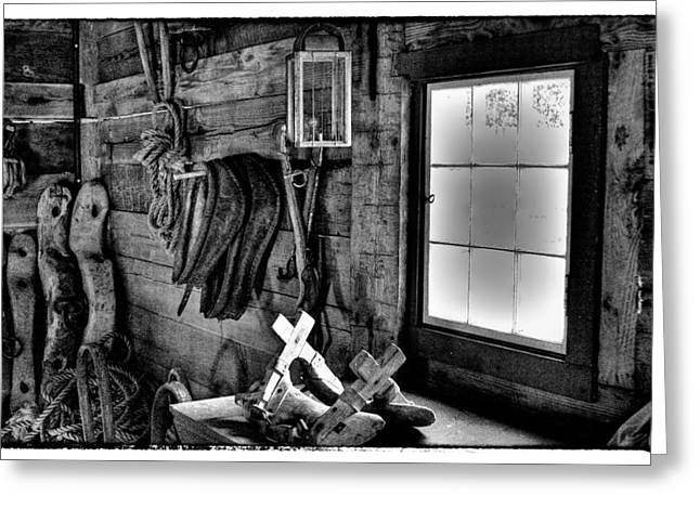 Stockade Greeting Cards - The Granary at Fort Nisqually II Greeting Card by David Patterson