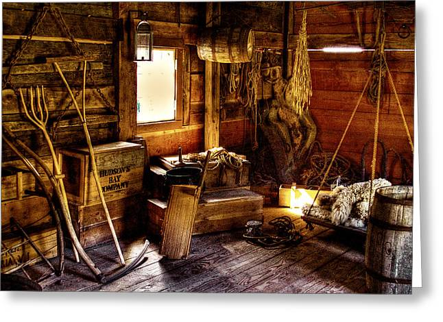 Stockade Greeting Cards - The Granary Greeting Card by David Patterson