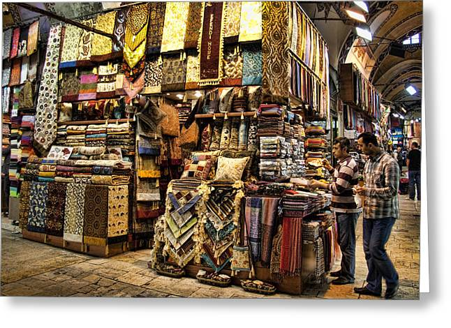 Istanbul Greeting Cards - The Grand Bazaar in Istanbul Turkey Greeting Card by David Smith