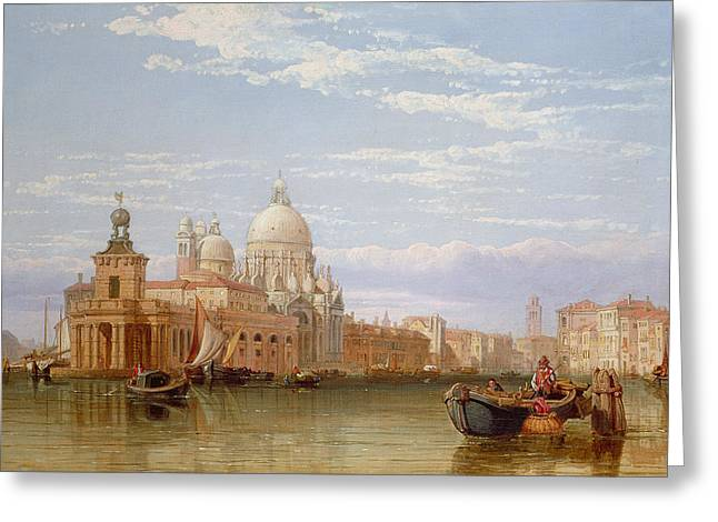 1828 Greeting Cards - The Grand Canal - Venice Greeting Card by George Clarkson Stanfield