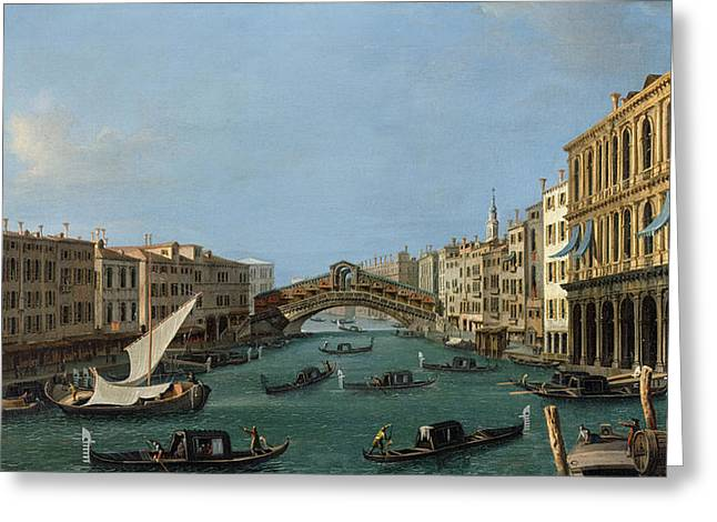 The Grand Canal Greeting Card by Antonio Canaletto