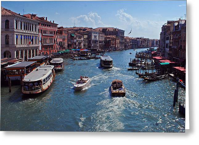 Jeka World Photography Greeting Cards - The Grand Canal Greeting Card by Jeff Rose