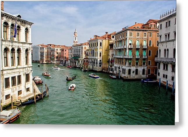 City Buildings Greeting Cards - The Grand Canal Greeting Card by Michelle Sheppard