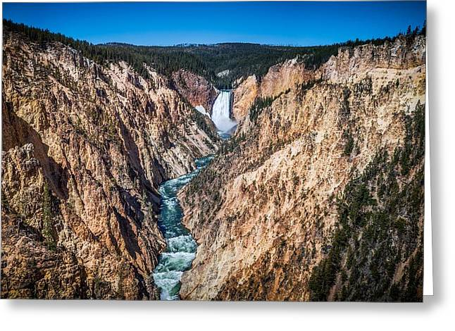 The Grand Canyon of Yellowstone Greeting Card by Brad Boserup