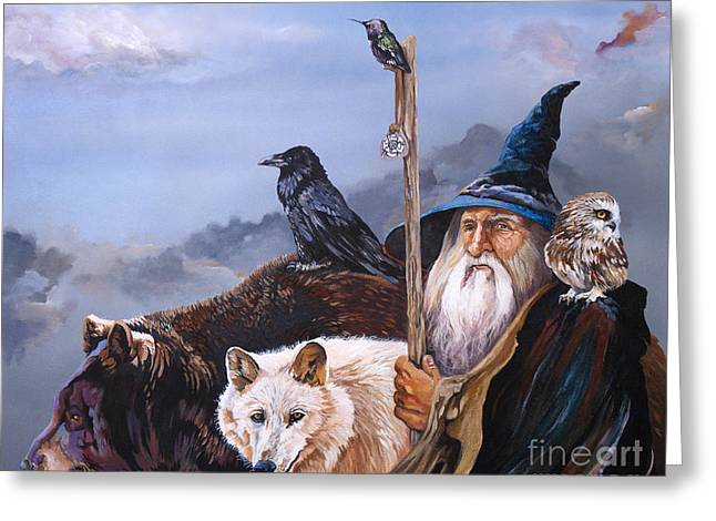 Mage Greeting Cards - The Grand Parade Greeting Card by J W Baker