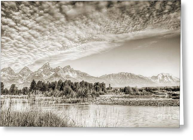 The Grand Tetons In Jackson Wyoming Greeting Card by Dustin K Ryan