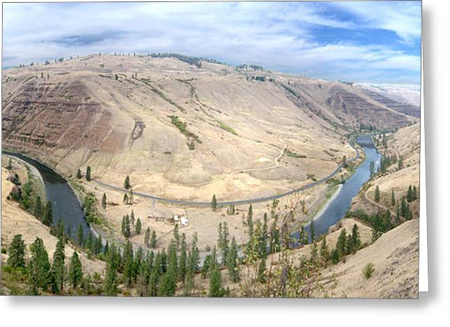 Us Open Photographs Greeting Cards - The Grande Ronde River Greeting Card by Kevin Felts