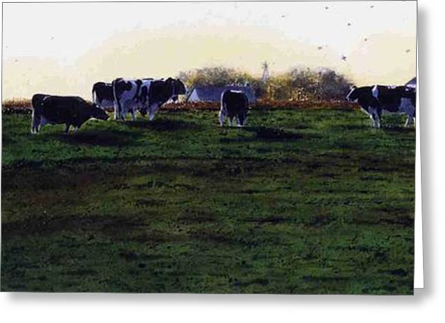 Photo-realism Greeting Cards - The Grass is Greener Greeting Card by Denny Bond