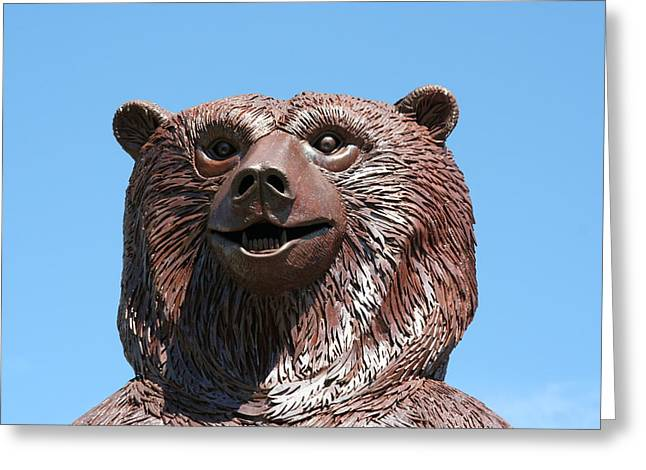 Weld Sculptures Greeting Cards - The Great Bear Greeting Card by Alan Derber