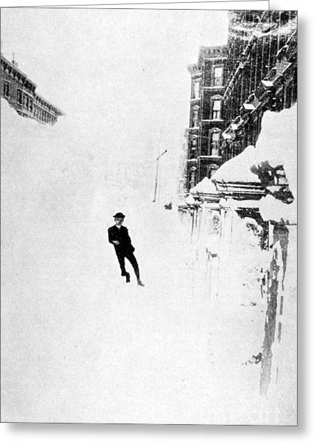 Dug Out Greeting Cards - The Great Blizzard, Nyc, 1888 Greeting Card by Science Source