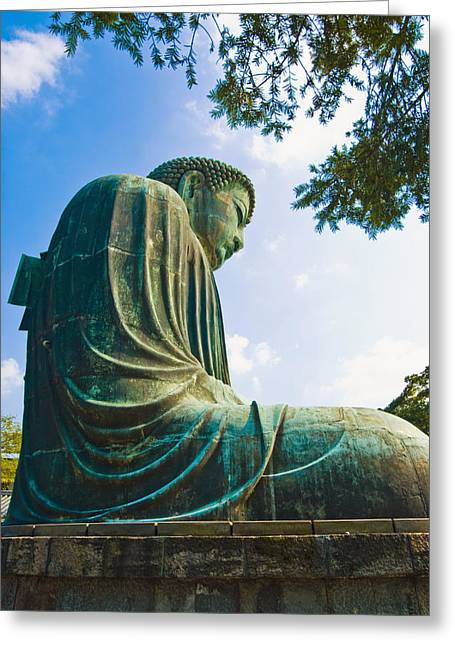 Asian Influence Greeting Cards - The Great Buddha Greeting Card by Bill Brennan - Printscapes