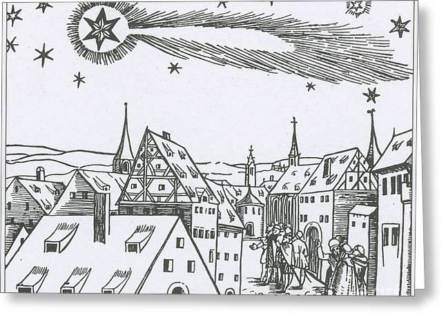 Bad Drawing Photographs Greeting Cards - The Great Comet Of 1556 Greeting Card by Science Source