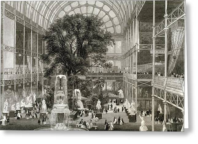 The Great Exhibition Of 1851, Hyde Park Greeting Card by Science, Industry And Business Librarynew York Public Library
