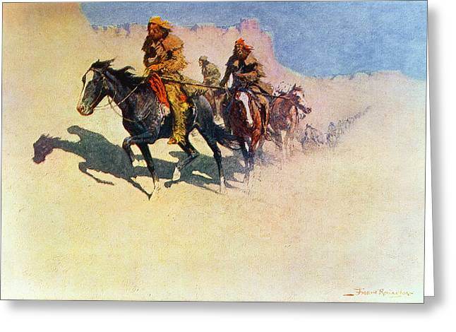 Trader Greeting Cards - The Great Explorers Greeting Card by Frederic Remington