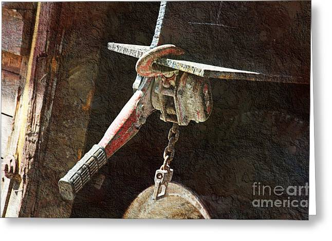 Mechanism Photographs Greeting Cards - The Great Hoist Greeting Card by Andee Design