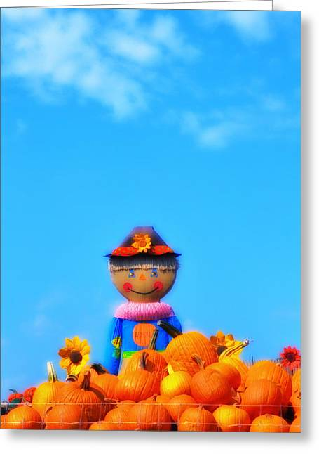 Orchard Digital Art Greeting Cards - The Great Pumpkin Greeting Card by Bill Cannon