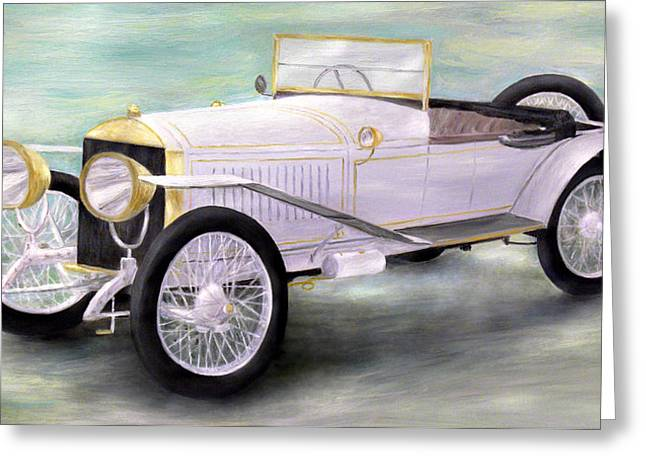 Vintage Car Greeting Cards - The Great Race Greeting Card by Ronald Haber