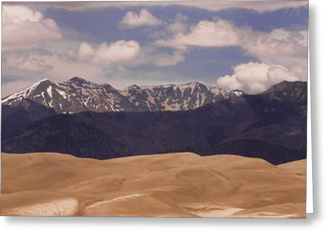 """nature Photography Prints"" Greeting Cards - The great Sand Dunes Panorama 1 Greeting Card by James BO  Insogna"