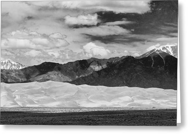 Lightning Photographs Greeting Cards - The Great Sand Dunes Panorama 2 Greeting Card by James BO  Insogna