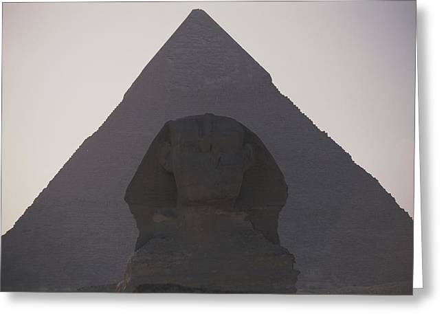 African Heritage Greeting Cards - The Great Sphinx Is Framed Greeting Card by Stephen St. John