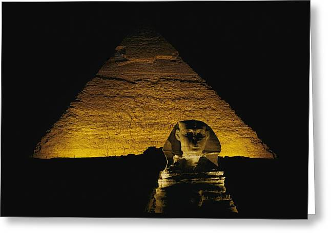 Pharaoh Greeting Cards - The Great Sphinx is Greeting Card by George F. Mobley