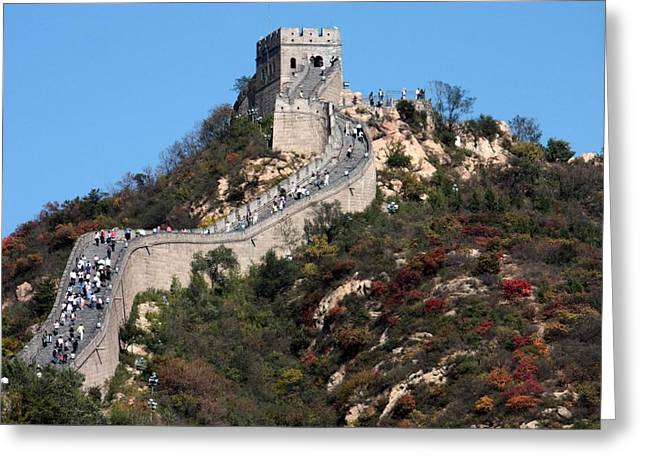 Carol Groenen Greeting Cards - The Great Wall Mountaintop Greeting Card by Carol Groenen