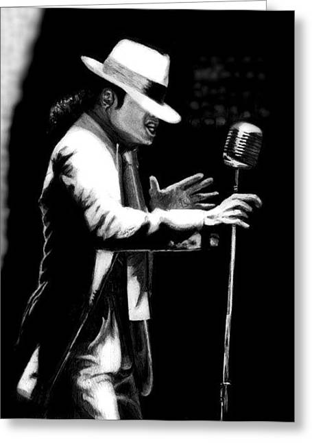 Mj Drawings Greeting Cards - The Greates Entertainer Ever Greeting Card by Carliss Mora