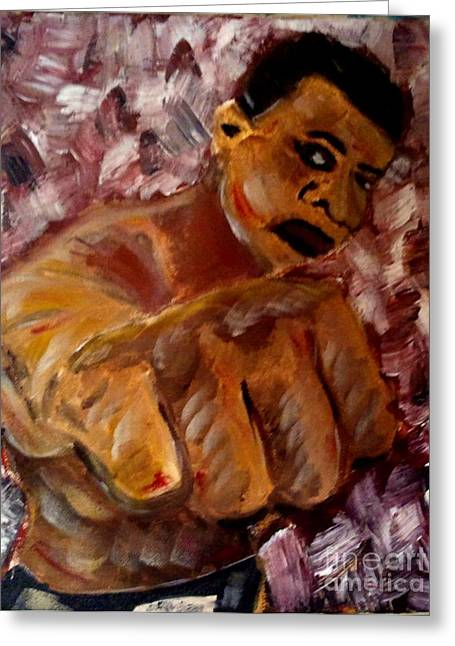Boxer Abstract Art Greeting Cards - The Greatest Greeting Card by J Von Ryan