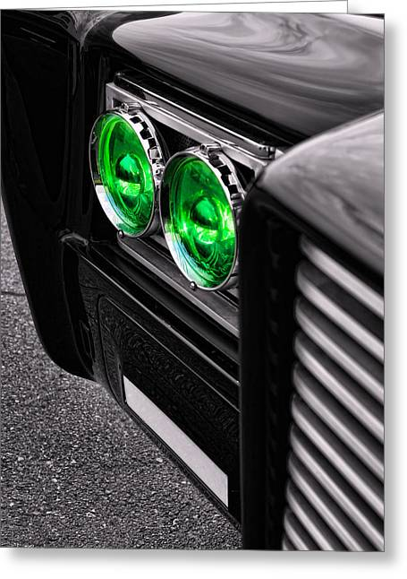 Rogen Greeting Cards - The Green Hornet - Black Beauty Close Up Greeting Card by Gordon Dean II
