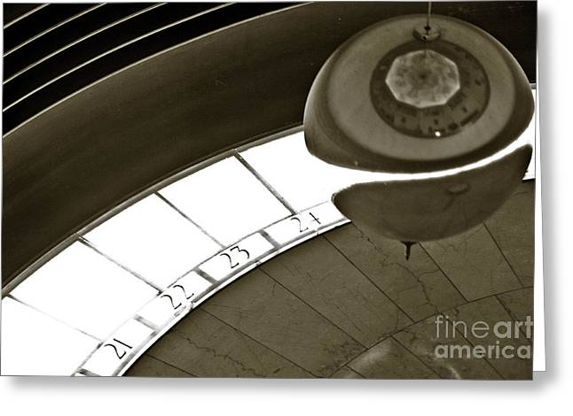 Large Clock Greeting Cards - The Greenwich Observatory Ball Greeting Card by Micah May