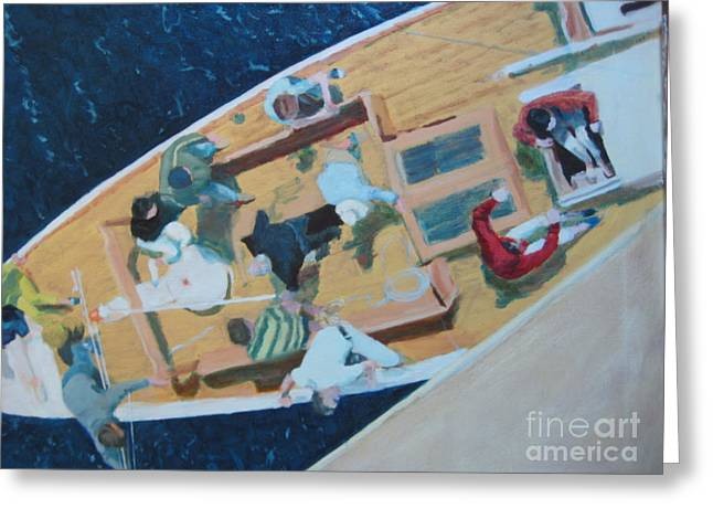 Santa Cruz Sailboat Paintings Greeting Cards - The Grissette Greeting Card by Brian McCoy