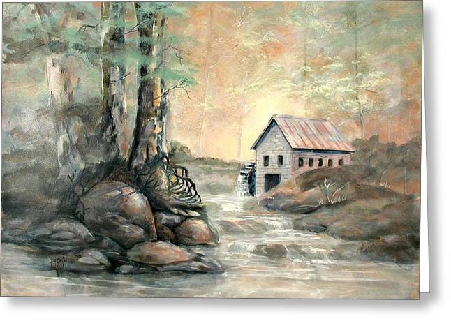 The Grist Mill Greeting Card by Gary Partin
