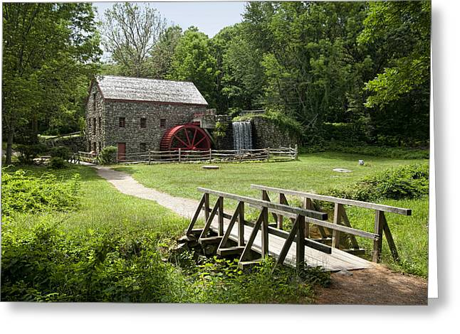Sudbury Ma Photographs Greeting Cards - The Grist Mill Greeting Card by Lee Fortier