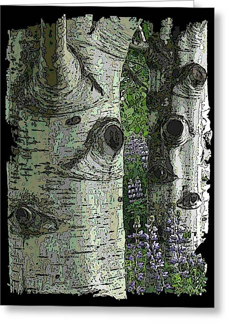 Jagged Border Greeting Cards - The Grove Greeting Card by Tim Allen
