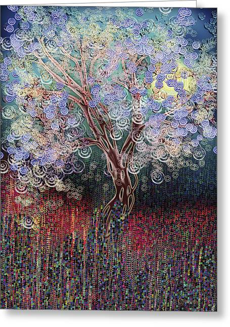Electric Creation Greeting Cards - The Growth of Energy - blue Greeting Card by Linda Cornelius